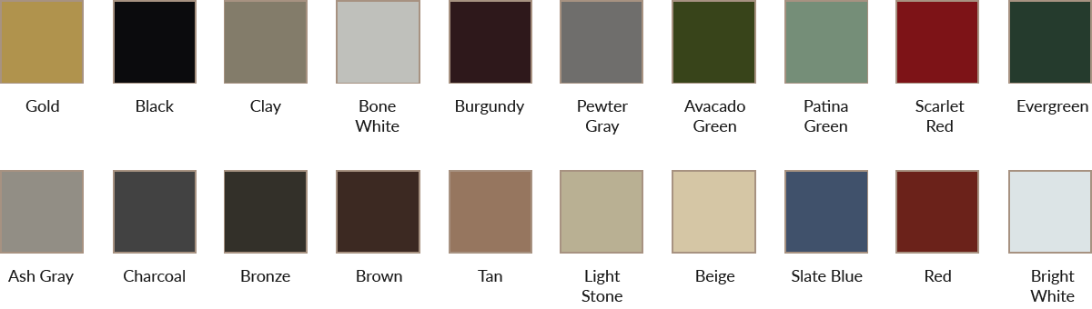metal color swatches