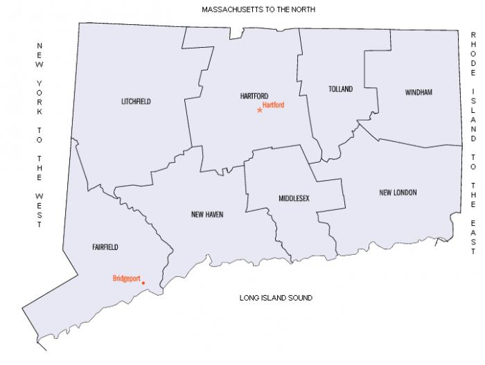 A map of towns we serve in Connecticut.