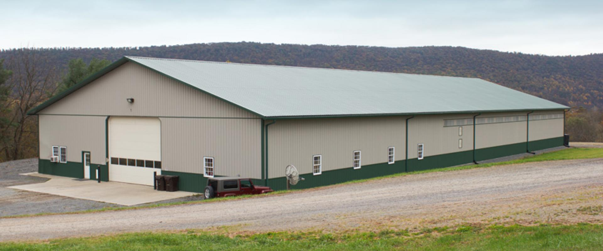 Pole barns pole buildings timberline buildings hegins pa for Pole building images