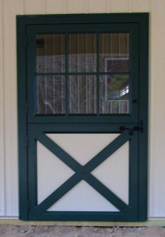 Metal Dutch Door with Crossbucks and Windows