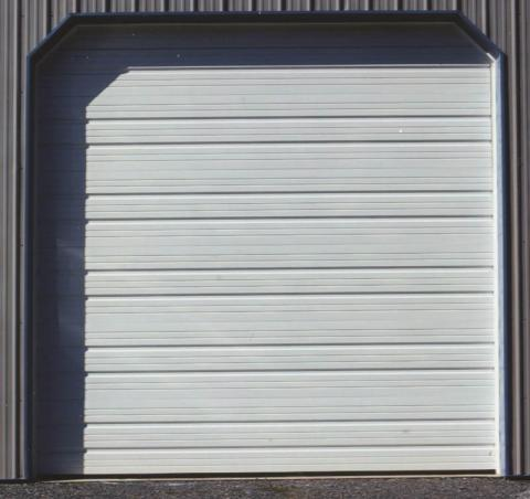 Ribbed Steel garage door