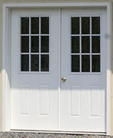 "72"" Double 9-lite Entry Door"