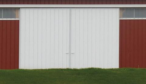 Typical Sliding Door with Metal Siding