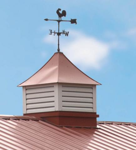 Louvered Cupola with Weathervane