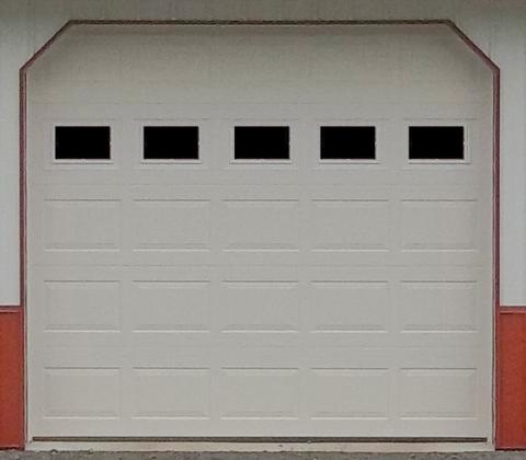 Raised Panel with Windows garage door