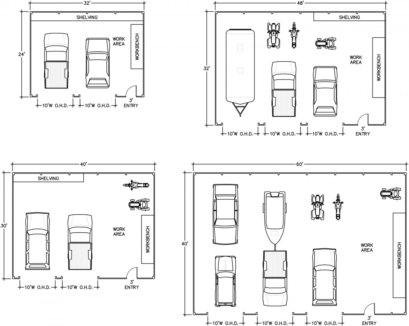 Pole Building floor layout plan