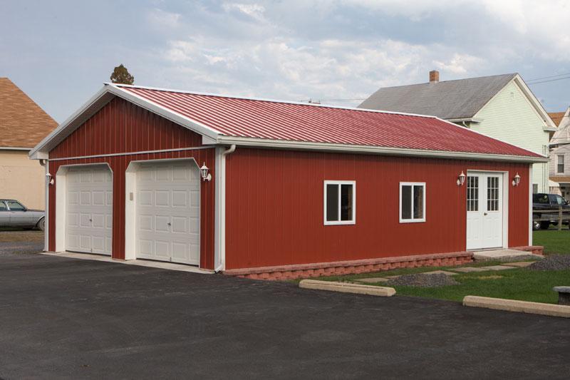 marvelous pole building pricing #8: 24u0027 x 32u0027 x 8u0027 Pole Building with garage doors