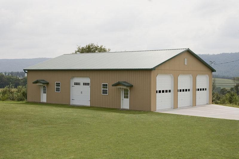 Residential pole buildings in hegins pa timberline for 40x60 garage cost