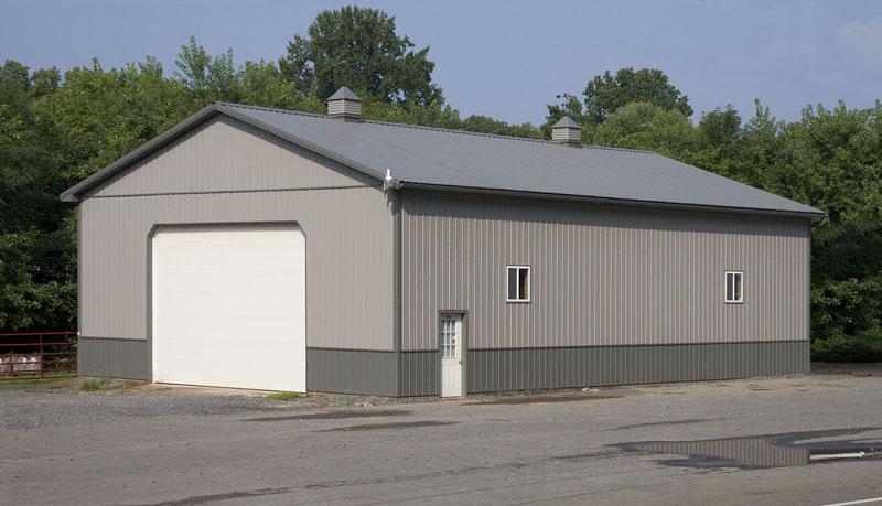 Agricultural pole buildings in hegins pa timberline for 40x50 shop cost