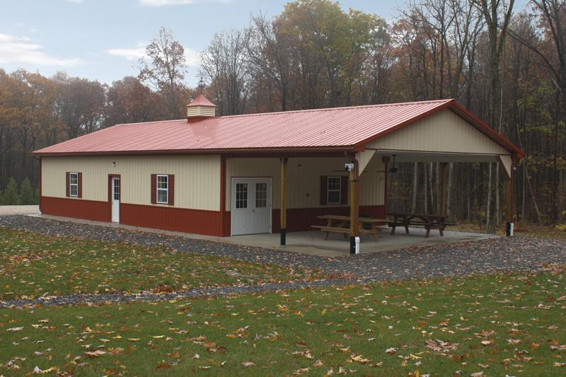 Residential pole buildings in hegins pa timberline for Residential pole barn homes