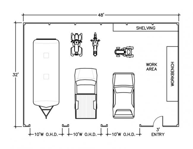 how much space floor plan drawing
