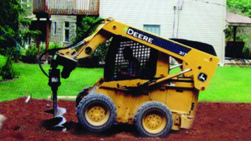 Skidsteer with auger