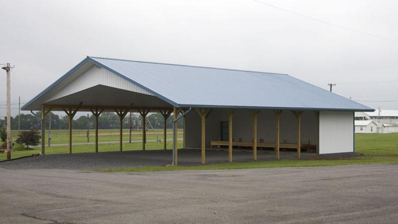 commercial pole building pavilion 144