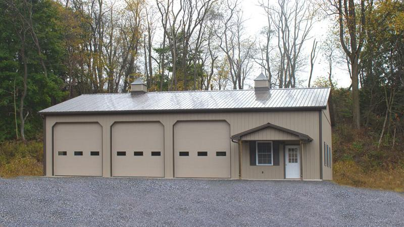 Garage doors for pole barns wageuzi Residential pole barn kits